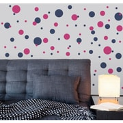 Wallums Wall Decor Polka Dots Wall Decal; Black / Silver Metallic