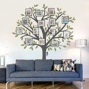 Wallums Wall Decor Large Family Tree Wall Decal; Black / Silver Metallic