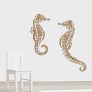 Wallums Wall Decor Seahorse Wall Decal; Gold Metallic