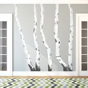 Wallums Wall Decor Illustrated Birch Trees Printed Wall Decal