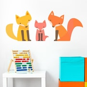 Wallums Wall Decor Fox Family Printed Wall Decal