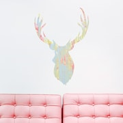 Wallums Wall Decor Buck Head Printed Wall Decal