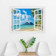 Wallums Wall Decor Island Paradise Window Wall Decal