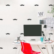 Wallums Wall Decor Mini Mustaches Wall Decal; Gold Metallic