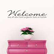 Wallums Wall Decor Welcome Guests and Friends Wall Decal; Silver Metallic