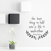 Wallums Wall Decor The Best Thing - Audrey Hepburn Wall Decal; Storm Gray