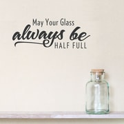 Wallums Wall Decor May Your Glass Always Be Half Full Wall Decal; Persimmon