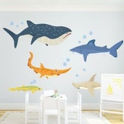 Wallums Wall Decor Shark Adventures Printed Wall Decal