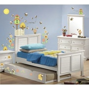 Borders Unlimited 54 Piece Let It Bee Happy Super Jumbo Appliqu  Wall Decal Set