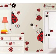 Borders Unlimited 38 Piece Ladybug Super Jumbo Appliqu  Wall Decal Set