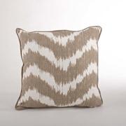 Saro Serpentine Printed Wavy Cotton Throw Pillow; Natural
