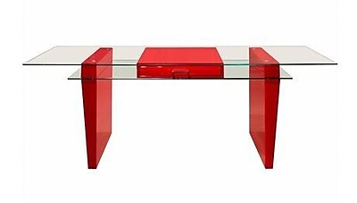 Sharelle Furnishings Crystal Executive Desk; Red WYF078278825139