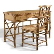 Kenian Coastal Chic Writing Desk and Chair Set; Tortoise