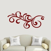 SweetumsWallDecals Decorative Flourish Scroll Wall Decal; Cranberry