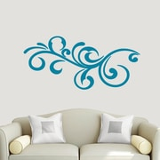 SweetumsWallDecals Decorative Flourish Scroll Wall Decal; Teal