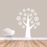 SweetumsWallDecals Flower Tree Wall Decal; White