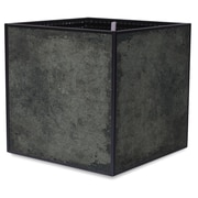 TheTrades&WaresCo Porcelain Planter Box; Black