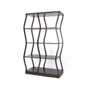 Wayborn Riaze Double Display 62'' Accent Shelves Bookcase