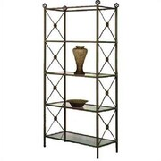 Grace Neoclassic 79'' Etagere Bookcase; Satin Black