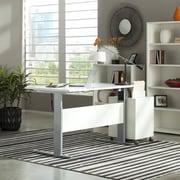Tvilum Pierce Desk Shell with Adjustable Height; White