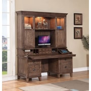Turnkey LLC Alexander Credenza Desk with Pullout Work Area; With Hutch