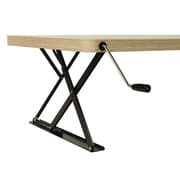 Halter Height Adjustable Desk; Wood