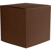 "LUX® Medium Cube Gift Boxes, 3 17/32"" x 3 9/16"" x 3 17/32"", Chocolate Brown, 10 Qty (MCUBE-17-10)"