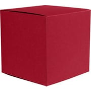"LUX® Medium Cube Gift Boxes, 3 17/32"" x 3 9/16"" x 3 17/32"", Garnet Red, 50 Qty (MCUBE-26-50)"