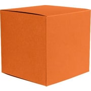 "LUX® Medium Cube Gift Boxes, 3 17/32"" x 3 9/16"" x 3 17/32"", Mandarin Orange, 10 Qty (MCUBE-11-10)"