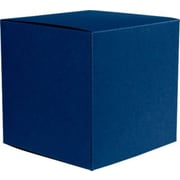 "LUX® Medium Cube Gift Boxes, 3 17/32"" x 3 9/16"" x 3 17/32"", Navy Blue, 10 Qty (MCUBE-103-10)"