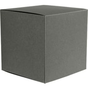"LUX® Medium Cube Gift Boxes, 3 17/32"" x 3 9/16"" x 3 17/32"", Smoke Gray, 10 Qty (MCUBE-22-10)"