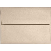"LUX® A6 Invitation Envelopes w/ Peel & Press, 4 3/4"" x 6 1/2"", Taupe Metallic, 50 Qty (5375-M09-50)"