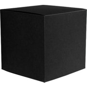 "LUX® Medium Cube Gift Boxes, 3 17/32"" x 3 9/16"" x 3 17/32"", Black Linen, 10 Qty (MCUBE-BLI-10)"