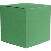 "LUX® Medium Cube Gift Boxes, 3 17/32"" x 3 9/16"" x 3 17/32"", Holiday Green, 10 Qty (MCUBE-L17-10)"