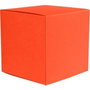 "LUX® Medium Cube Gift Boxes, 3 17/32"" x 3 9/16"" x 3 17/32"", Tangerine Orange, 10 Qty (MCUBE-112-10)"