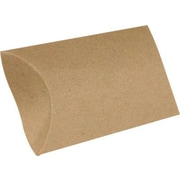 "LUX® Medium Pillow Boxes, 2 1/2"" x 7/8"" x 4"", 18 pt. Grocery Bag Brown, 500 Qty (MPB-GB-500)"