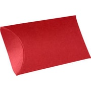 "LUX® Medium Pillow Boxes, 2 1/2"" x 7/8"" x 4"", Ruby Red, 500 Qty (LUX-MPB-18-500)"