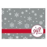 """LUX® #17 Mini Gift Card Envelopes, 2 11/16"""" x 3 11/16"""", Silver Snowflake Design, 50 Qty (LEVC-H02-50)"""
