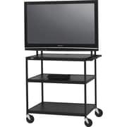 Bretford – Muble pour téléviseur Basics, 3 tablettes, acier, noir, (FP60UL-P5BK)
