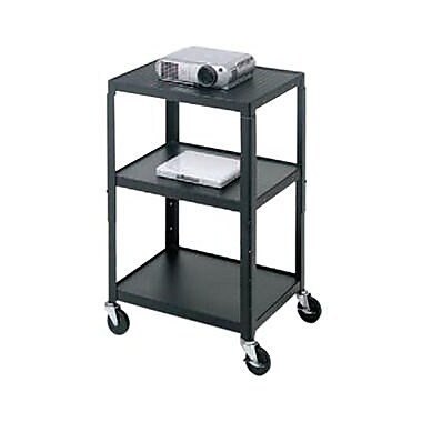Bretford Height Adjustable A/V Cart , Black, (A2642E)
