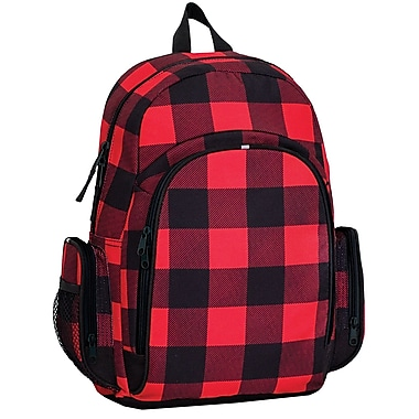 Louis Garneau Children Sports Backpack, Assorteds, 3 Pockets, 25L, Red Plaid