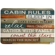 LauralHome Cabin Rules Mat