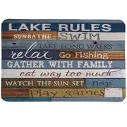 LauralHome Lake Rules Mat