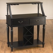 AA Importing Back Bar with Wine Storage; Black