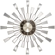 ABCHomeCollection 22'' Modern Mirrored Geometric Wall Clock