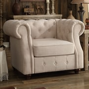 Mulhouse Furniture Olivia Tufted Barrel Chair; Beige