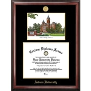 Campus Images NCAA Auburn University Gold Embossed Diploma w/ Campus Images Lithograph Picture Frame