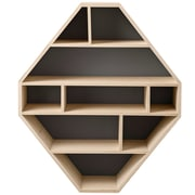 Bloomingville Diamond Shaped Wood 33'' Accent Shelves Bookcase