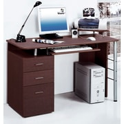 Merax Computer Desk with Keyboard Tray, Printer Platform and Drawers