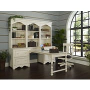 Fairfax Home Collections Barton Park Computer Desk with Smart Top; Rustic Ivory